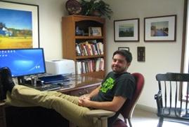 Ben at the desk